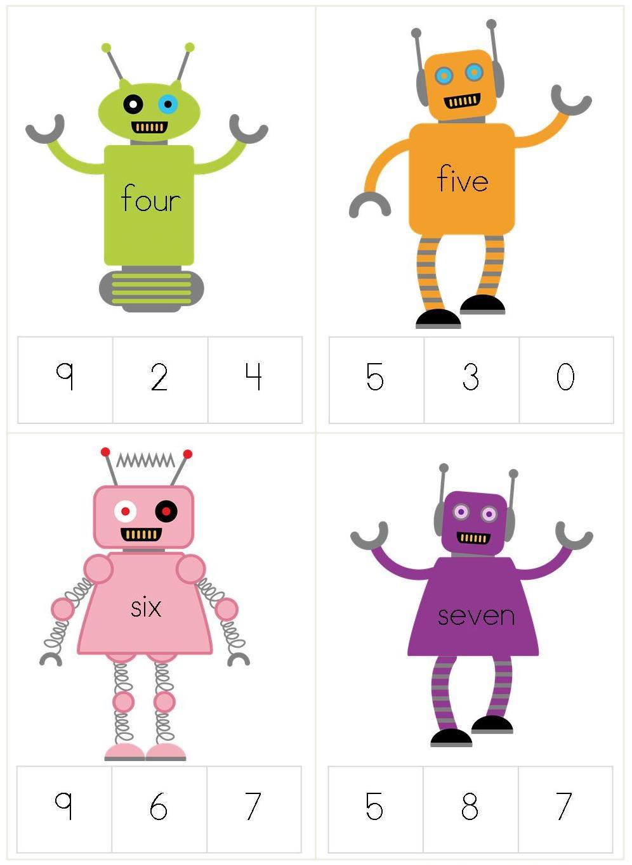 Robot Worksheets Kindergarten