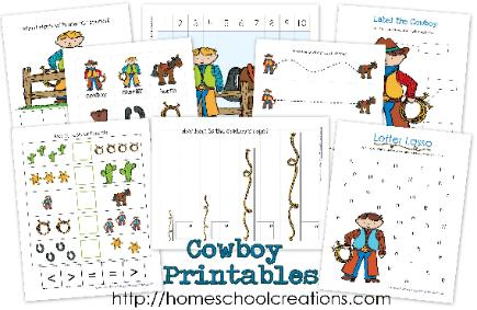 homeschool step by step preschool theme wild west cowboys desert. Black Bedroom Furniture Sets. Home Design Ideas