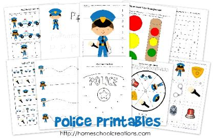 Police Worksheets Preschool. Police. Best Free Printable Worksheets