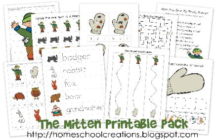 photograph about The Mitten Story Printable called The Mitten Mastering Printables