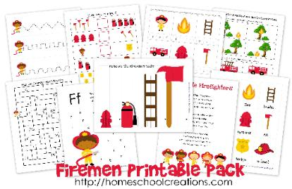 Firemen learning printables maxwellsz