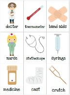 doctor bag craft template - doctor preschool pack