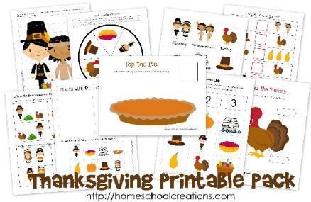 Number Names Worksheets free printable thanksgiving worksheets for kids : Thanksgiving Early Learning Printables